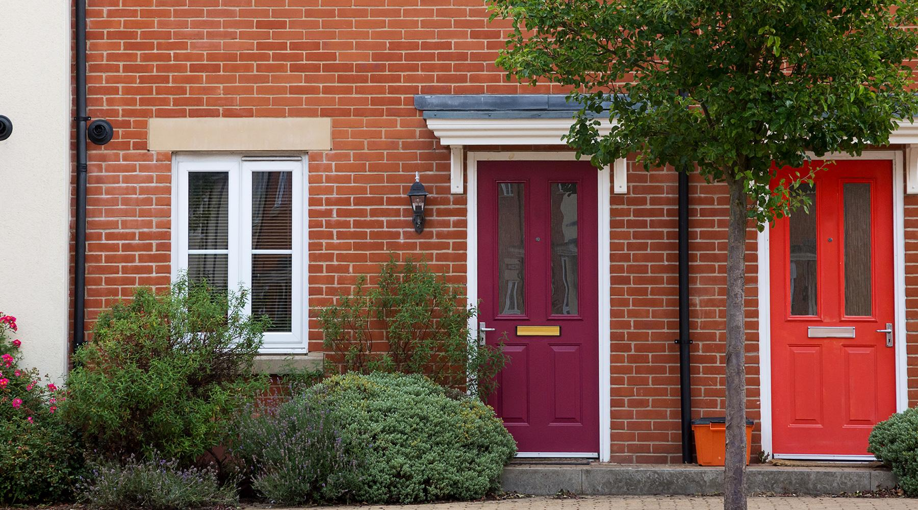 UPVC Doors installed on new homes